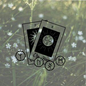 Illustration Boutique Oracles Runes Maboitesacree